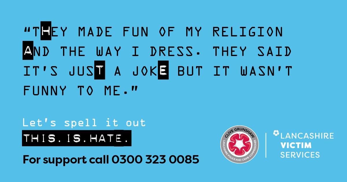 Hate Crime campaign religion banner