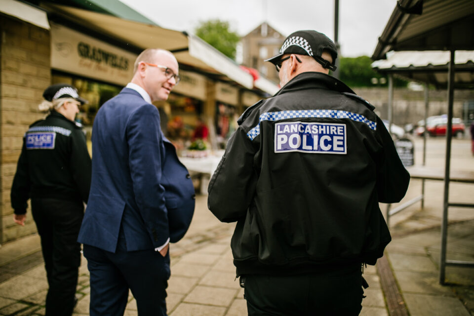 PCC Andrew Snowden and officers